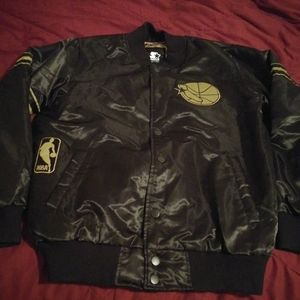 Large Black and Gold GS Warriors Starter Jacket